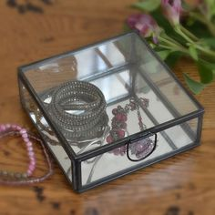 Pierre Glass Box with Mirror Bottom