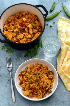 Portuguese Recipes 43181 Galinhada (rice dish and Brazilian chicken) - Amandine Cooking Beef Recipes, Vegetarian Recipes, Chicken Recipes, Healthy Recipes, Easy Dinner Recipes, Appetizer Recipes, Brazilian Chicken, Brazilian Recipes, Chicken Bog