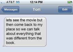 When they acknowledge the importance of an adaptation discussion. | 16 Text Messages That Would Make Any Book Nerd Smile