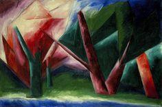 Natalia Goncharova, The Forest on ArtStack #natalia-goncharova-natal-ia-sierghieievna-goncharova #art