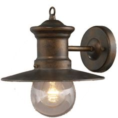 Maritime Nautical Outdoor 10 inches high Wall Sconce