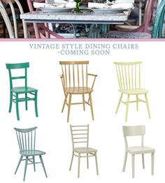 We love these vintage shabby chic reproduction restaurant cafe chairs that are heading onto our website very shortly!