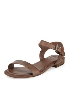 Frye – Philip Two-Piece Ankle-Wrap Sandals Ankle Wrap Sandals, Leather Sandals, Frye Shoes, Fashion, Moda, Fashion Styles, Fashion Illustrations
