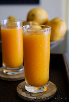 Papaya Slushy @Liren Baker | Kitchen Confidante