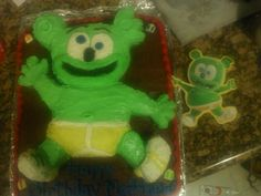 gummy bear cake I made Gummy Bear Cakes, Gummy Bears, Birthday, Desserts, Tailgate Desserts, Birthdays, Deserts, Gummi Bears, Postres