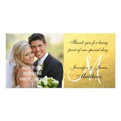 Gold Black Wedding Thank You Message
