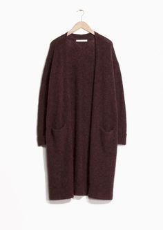 Plum coloured cardigan from & Other Stories