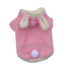 Freerun Pet Dogs Rabbit Bunny Costumes Fleece Hoodie Every Day for Smallsized Dogs  Pink S >>> You can get additional details at the image link.Note:It is affiliate link to Amazon.