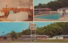 Ka-Jax Motel - Newburgh, New York -- I do not know if the mural or the lamps make room more.
