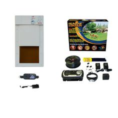 High Tech Pet Humane Contain X-10 In Ground Pet Fencing System with Power Pet Door