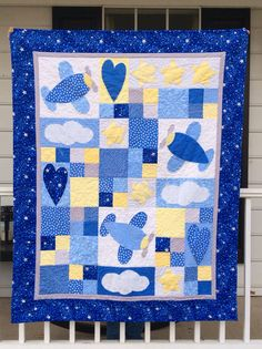 Noah's baby quilt - pattern used is Sky Dreams