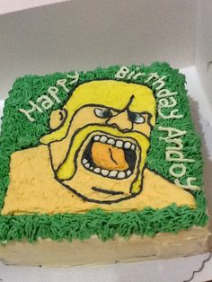 clash of clans barbarian cake i made for my nephew's bday 08-30-13