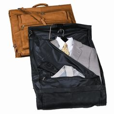 Royce Carry On All Leather Suiter Garment Bags at Brookstone—Buy Now! $700