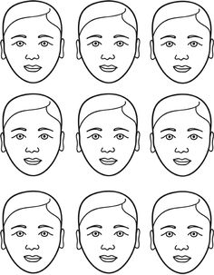 Free Face Painting Template I just made. Hopefully gender and race non specific. Use this link to download hi rez:  http://www.wendywahman.com/pages/whatsNew/?p=2143
