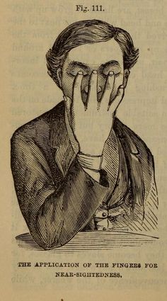 Fig. 111. Home remedy for near-sightedness. Plain home talk about the human system. 1896.