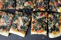 ramp pizza with a little mozarella