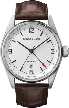 Georg Jensen Watch Delta Classic Pre-Order #basel-15 #bezel-fixed #case-depth-12mm #case-material-steel #case-width-42mm #date-yes #delivery-timescale-call-us #dial-colour-white #gender-mens #gmt-yes #luxury #movement-automatic #new-product-yes #packaging-georg-jensen-watch-packaging #pre-order #pre-order-date-30-09-2015 #preorder-september #style-dress #subcat-delta #subcat-georg-jensen-gmt #supplier-model-no-3575601 #warranty-georg-jensen-official-2-year-guarantee #water-resistant-100m
