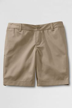 School Uniform Plain Front Blend Chino Shorts from Lands' End oak hall