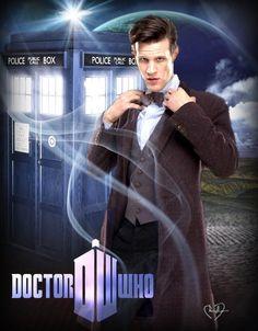 THE DAPPER DOCTOR - 11th Doctor photo edit created by Cheryl Duncan~the Blue Box Beach Bum