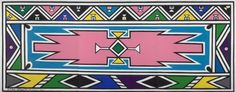 Esther Mahlangu | Works African Wedding Cakes, Beaded Lanyards, Hd Backgrounds, Teaching Art, Traditional Wedding, African Art, House Painting, Print Design, Artsy