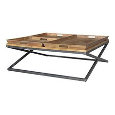 This Coffee Table Will Have All Of Your Guests Raving About When They Come Over. Made From Reclaimed Pine Wood Along With Three Removable Trays, This Is Not Your Ordinary Coffee Table. Dimensions 47.2