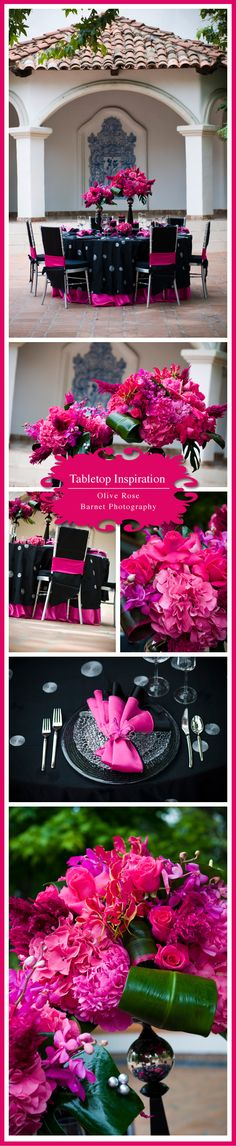 Tabletop Inspiration | Hot Pink Harley