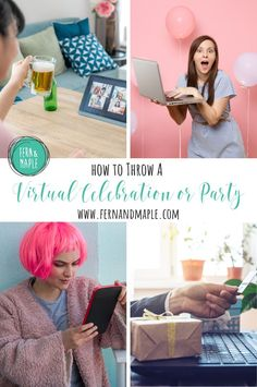 Get all the information you need when it comes to how to handle invites, food, gifts, activities, favors and more for a virtual celebration or virtual party at fernandmaple.com!