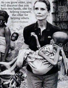 .Audrey Hepburn - ツ www.pinterest.com/WhoLoves/Altruism-Contribution ツ #Altruism #Contribution #Philanthropy