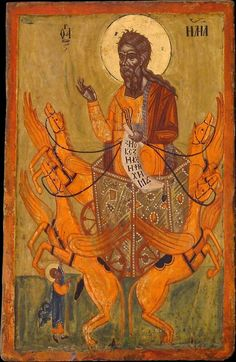 Ascension of Elijah, end of 17th - beginning of 18th c