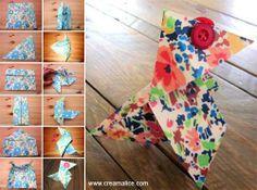 ❀ ✄ DIY Cocotte Pâques Liberty Origami / DIY Easter Origami Hen ✄ ❀