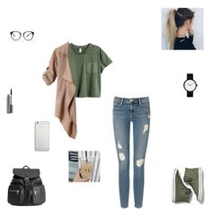 """""""casual day #16"""" by synclairel ❤ liked on Polyvore featuring Frame Denim, Keds, H&M, MAC Cosmetics, Native Union, Fall, cute, casual and ootd"""