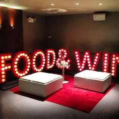 We love this lounge area at Food & Wines #bnc25 awards