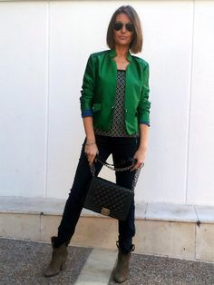 new look con el modelo casual en color verde de la collection instinto. www.isabella.es