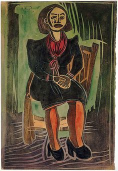 "William H. Johnson - Harlem Renaissance - ""Sitting Model"""