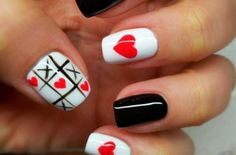 Tris nail art per San Valentino