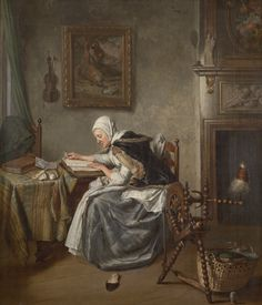Wybrand Hendriks (Dutch painter, Old Woman Reading Woman Reading, Reading People, Reading Art, Dutch Golden Age, Old Paintings, Vintage Paintings, Art Costume, Dutch Painters, Dutch Artists