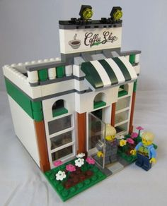 Lego Custom Coffee Shop Restaurant Town City Train 2 Minifig Minifigures Figs | eBay