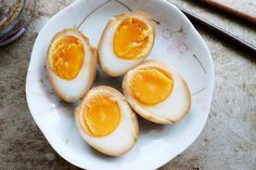 To all my beloved BNF fans who requested for Shoyu Tamago recipe, this for you.  This well-loved hard-boiled egg with a molten, custard yolk is a must-have . Soy Sauce Eggs, Eggs And Soldiers, Japanese Egg, Asian Appetizers, Boiled Eggs, Hard Boiled, Weight Watchers Meals, Korean Food, Asian Recipes