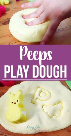 Turn your favorite treat into a fun learning activity for your kids - try this easy Peeps play dough recipe to have fun with those Peeps treats rather than avoiding a sugar high from your kids.  #Peeps #playdough #preschool #kindergarten #kidsactivities