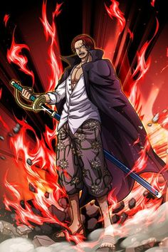 Manga Anime One Piece, Anime Echii, One Piece Fanart, One Piece World, One Piece Ace, One Piece Luffy, Roronoa Zoro, Red Hair Shanks, Anime Zone