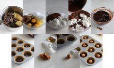 Kladdkakegrottor med salt kola – My Kitchen Stories Low Carb Chocolate Cake, Sugar Substitute, Kitchen Stories, Brown Sugar, Cocoa, Caramel, Salt, Pudding, Breakfast