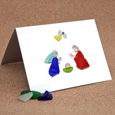 Christmas Card or Notecard, Sea Glass Nativity I by CoastToCottage on Etsy https://www.etsy.com/listing/258572596/christmas-card-or-notecard-sea-glass