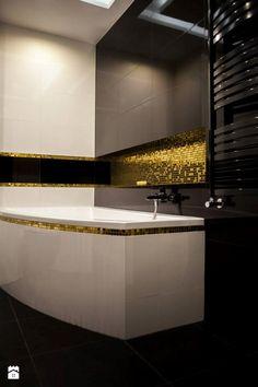 Łazienka w stylu glamour: biało-czarno-złota - zdjęcie od GLAZURA TYSKA - Firma…