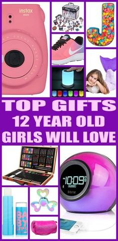 Top gifts for 12 year old girls! Here are the best gifts for that special girls 12th birthday or for her christmas present. Twelve year old girls will love any of the products from this top gift list. Educational and fun gift ideas for a girls twelfth birthday.