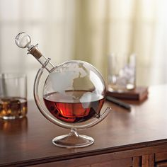 You'll love the Etched Globe Spirits Decanter at Wayfair - Great Deals on all Furniture products with Free Shipping on most stuff, even the big stuff.