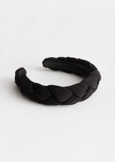 & Other Stories - Chunky Braided Alice Headband Box Braids Pictures, Big Box Braids, Braid Designs, Barrettes, Hair Scrunchies, Next Fashion, Latest Fashion, Black Headband, Box Braids Hairstyles