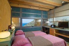 The lovely twin bedroom of Ravdoucha Villas in Crete Luxury Holidays, Luxury Villa, Crete, Bunk Beds, Bedroom, Villas, Twin, Furniture, Home Decor