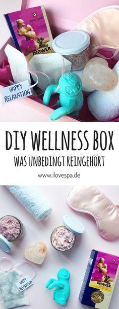DIY Wellness Box selber machen - das perfekte DIY Wellness Geschenk #diy #wellnessbox #wellness #geschenk #wellnessgeschenk Holiday Gifts, Christmas Gifts, Diy Spa, Xmas Presents, Beauty Box, House Warming, Origami, Crafty, Housewarming Gifts