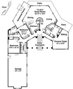 Log Home Design Plan and Kits for Mankato | hexagon floor plan ...