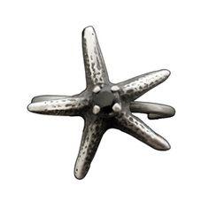 Black Sea Star Ear Cuff in Black Spinel